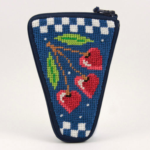 Cherry Hearts Scissor Case Kit-Needlepoint Canvas-Alice Peterson-KC Needlepoint