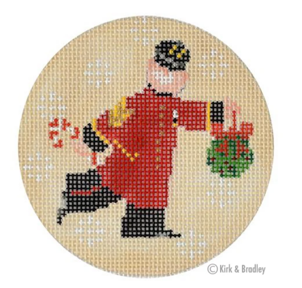 The Colonel Round Canvas - needlepoint