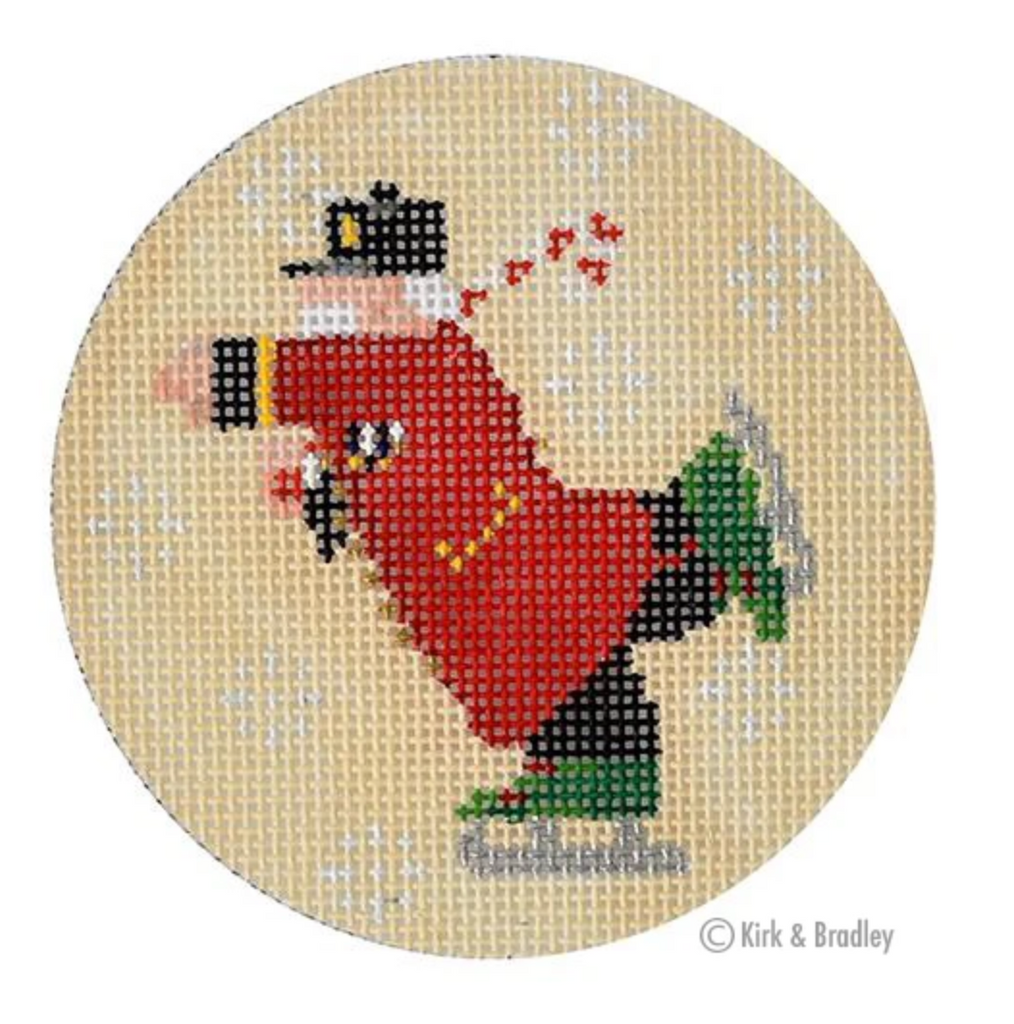 The Brigadier Round Canvas-Needlepoint Canvas-KC Needlepoint