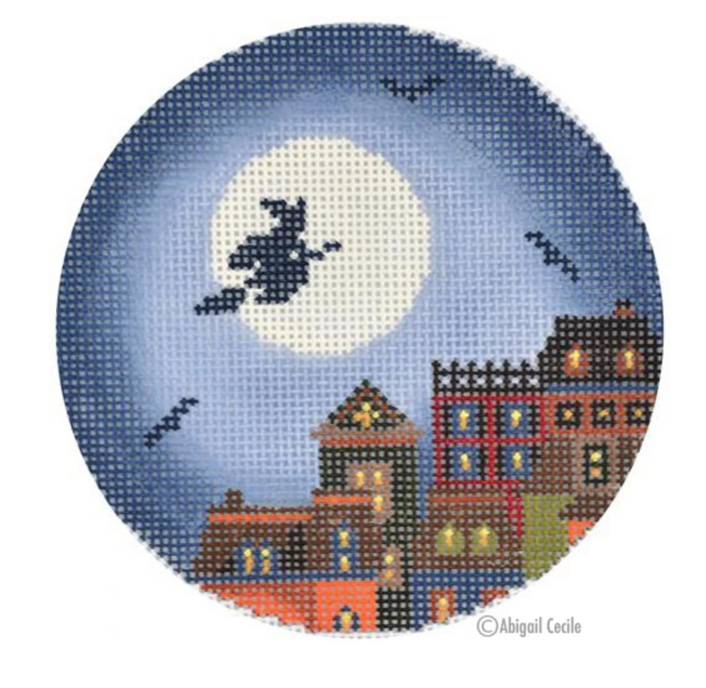 Hallows Eve Town Ornament Canvas