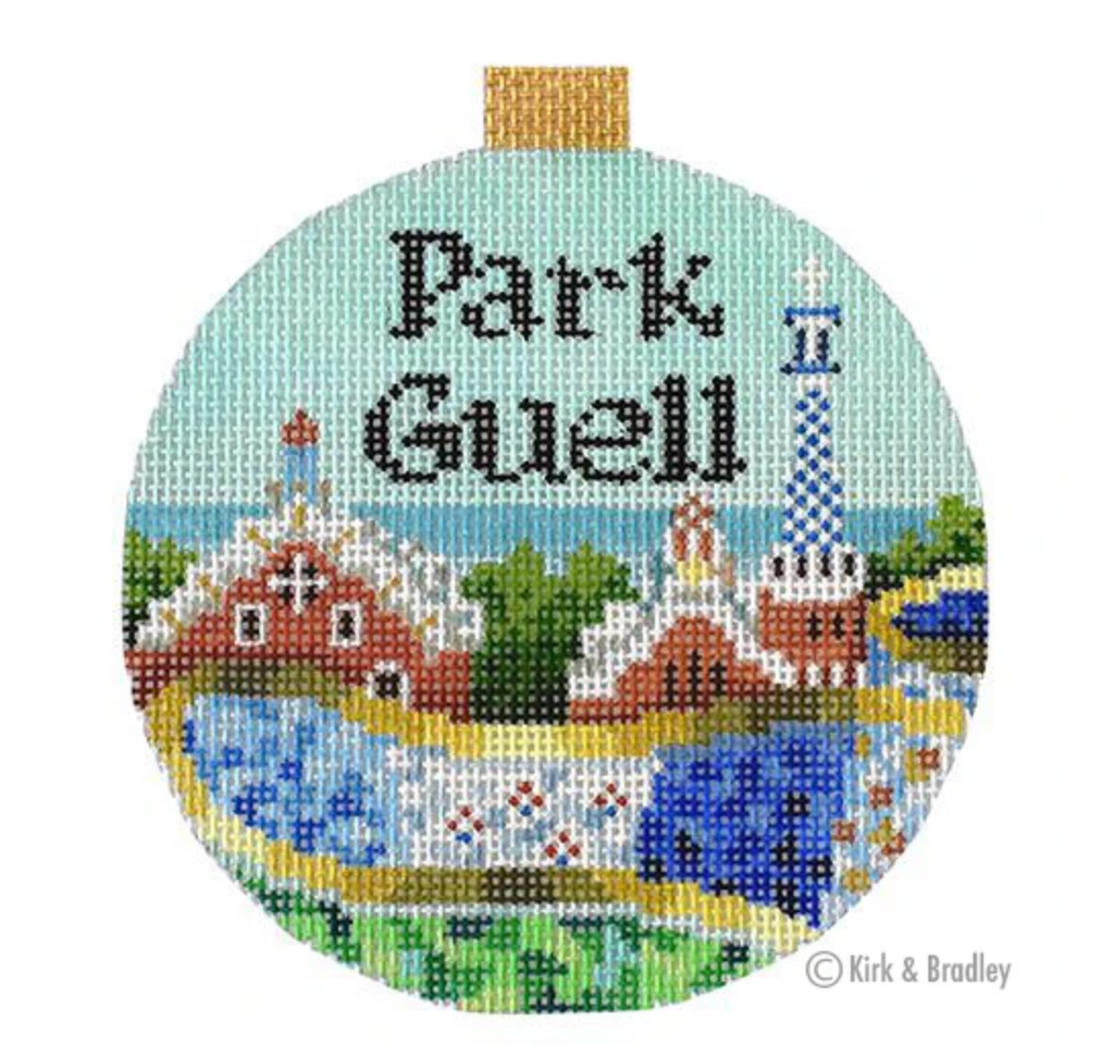 Park Guell Round Needlepoint Canvas-Needlepoint Canvas-KC Needlepoint