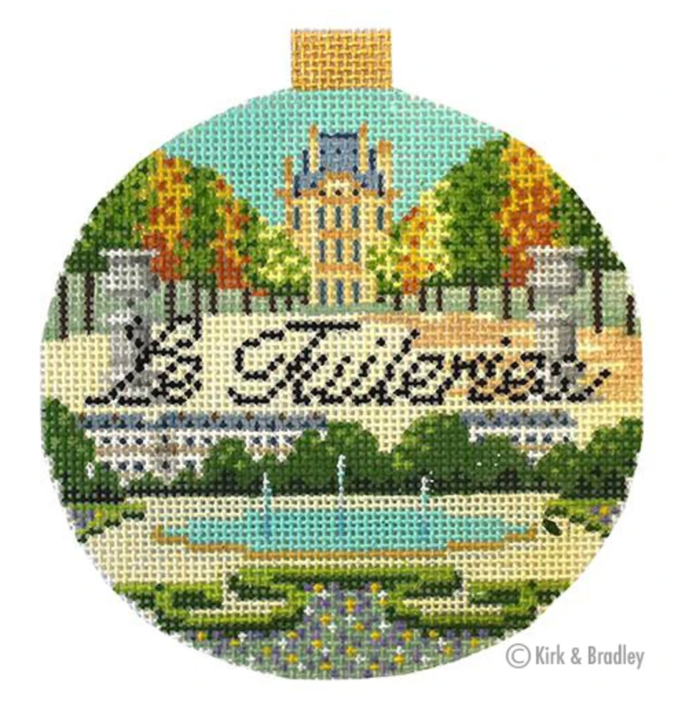 Le Tulleries Round Needlepoint Canvas-Needlepoint Canvas-KC Needlepoint