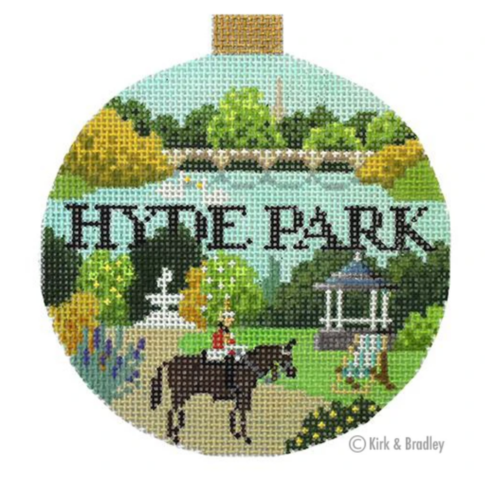 Hyde Park Round Needlepoint Canvas-Needlepoint Canvas-KC Needlepoint