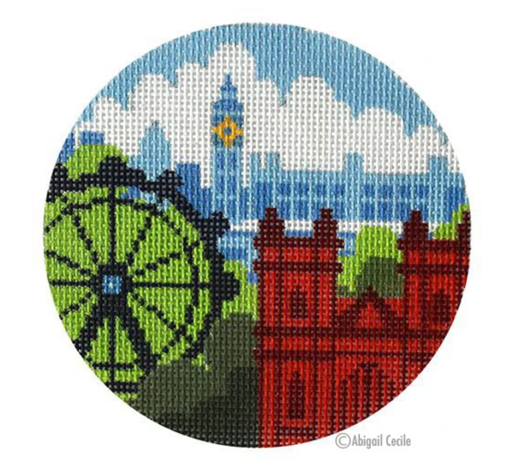 Rooftops of London Ornament Canvas-Needlepoint Canvas-KC Needlepoint