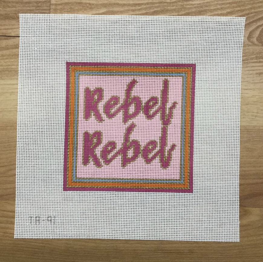 Rebel Rebel Needlepoint Canvas-Needlepoint Canvas-KC Needlepoint