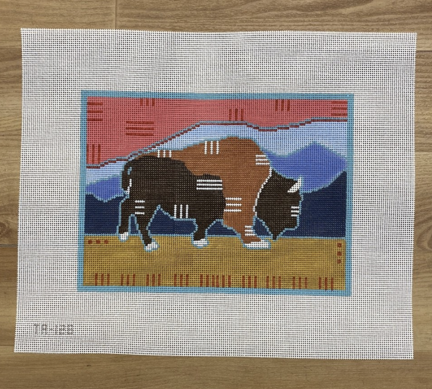Badlands Bison Canvas