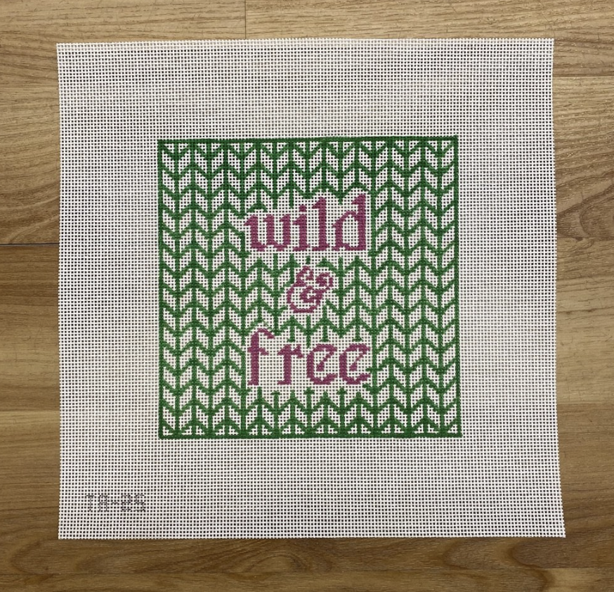 Wild and Free Needlepoint Canvas