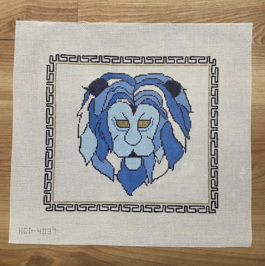 Golden Lion by Drew Canvas - needlepoint