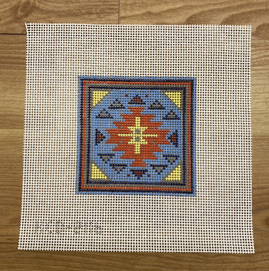 Southwest Square #1-Needlepoint Canvas-KC Needlepoint