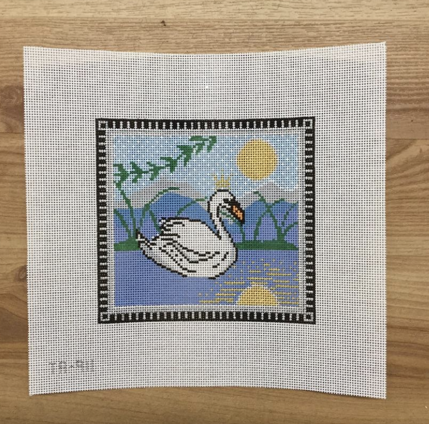Swan on the Lake Canvas-Needlepoint Canvas-KC Needlepoint