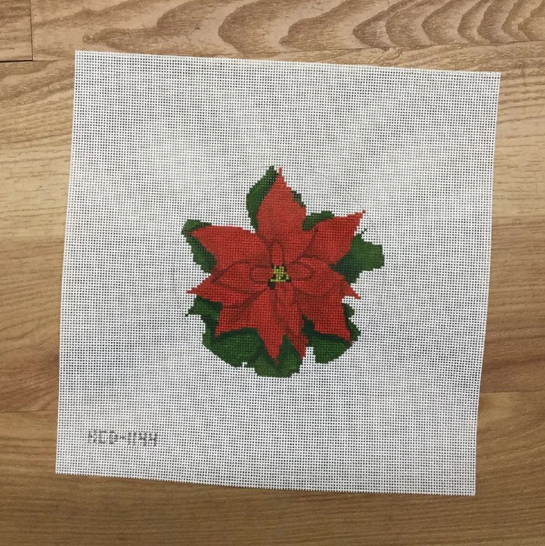 2020 KCN Poinsettia Ornament - KC Needlepoint