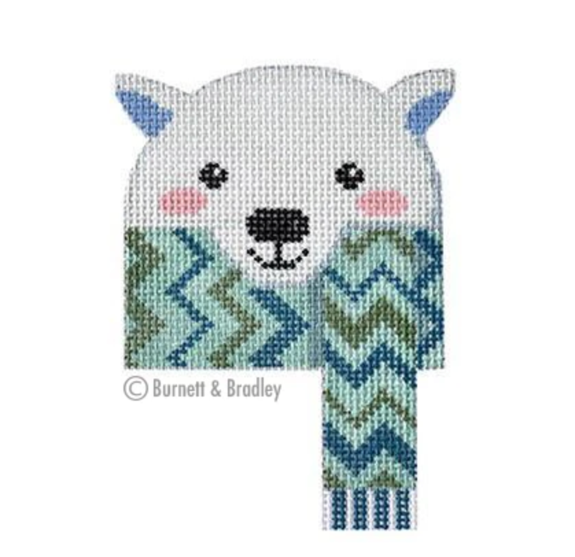 Polar Bear Canvas - needlepoint