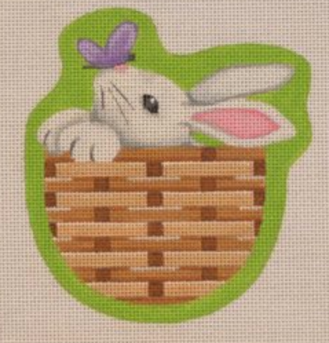 Bunny Basket Canvas - needlepoint