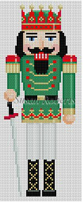 Red Crown King Nutcracker Canvas - needlepoint