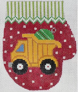 Dump Truck Mitten Canvas - needlepoint