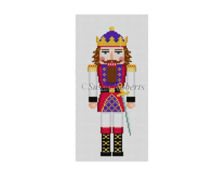 King I Nutcracker Canvas - needlepoint