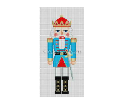 Aqua King Nutcracker Canvas - needlepoint
