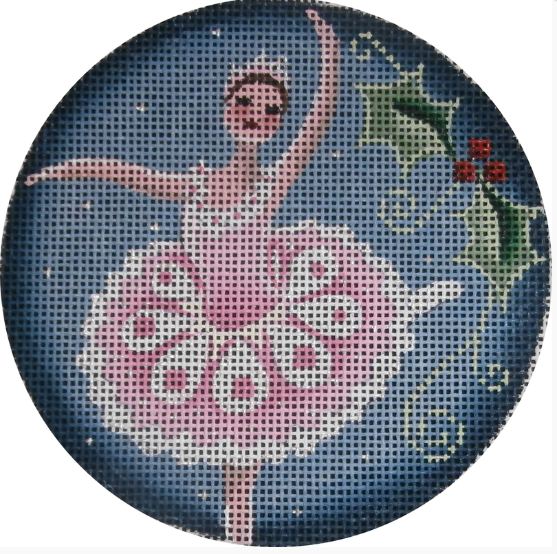 Sugar Plum Fairy Round Canvas - needlepoint