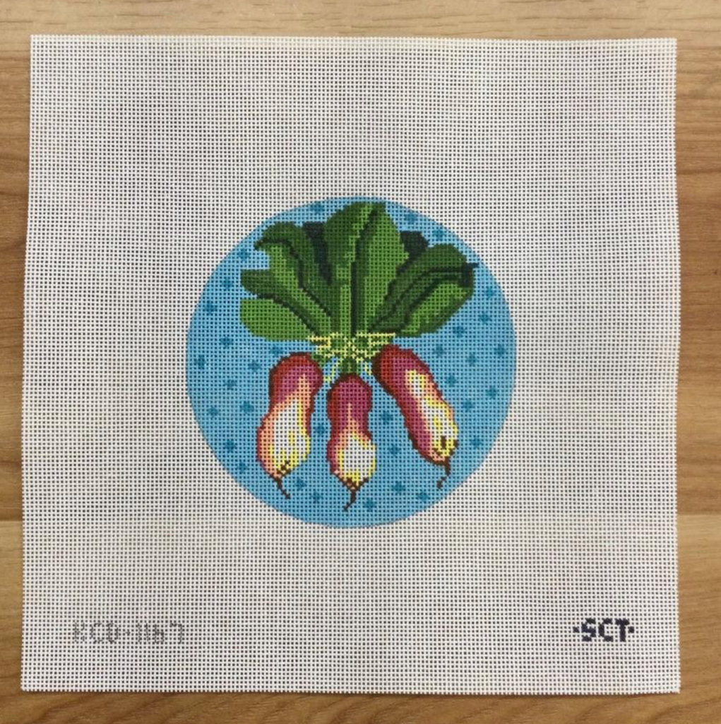 Three Radishes Round Canvas