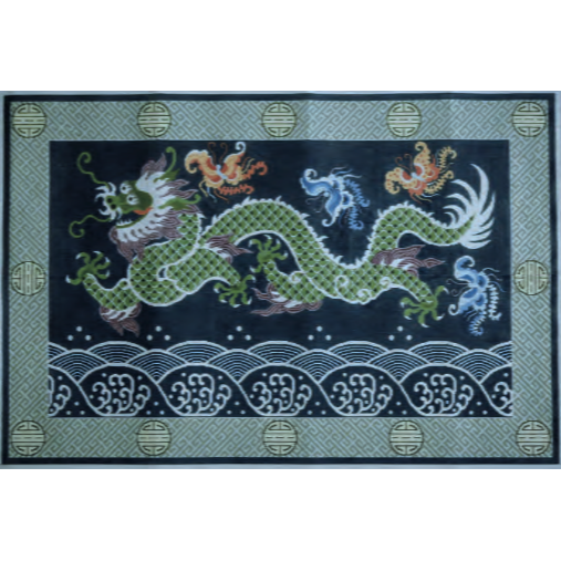 Dragon Needlepoint Rug Canvas - needlepoint