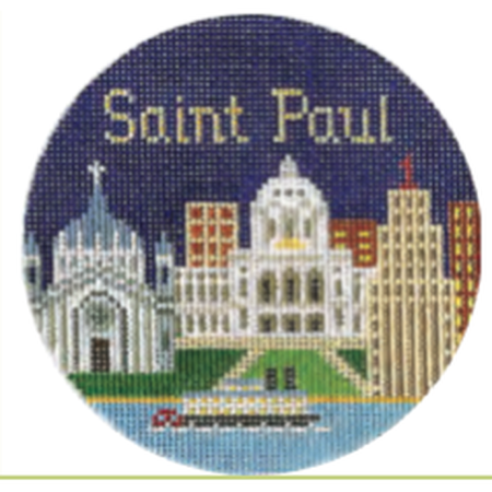 "St. Paul 4 1/4"" Round Needlepoint Canvas - needlepoint"