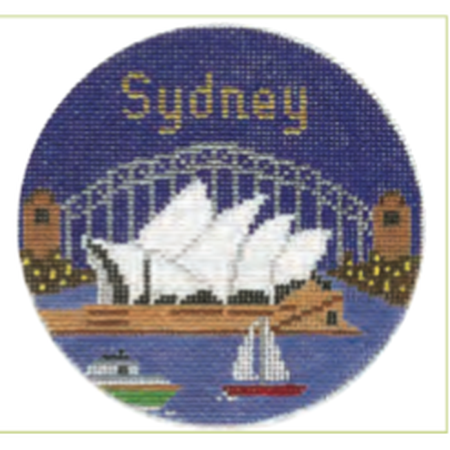"Sydney 4 1/4"" Travel Round Needlepoint Canvas - needlepoint"