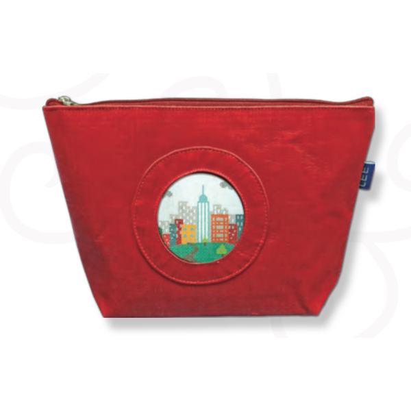 Silk Bag-Accessories-Colonial Needle-Red-KC Needlepoint