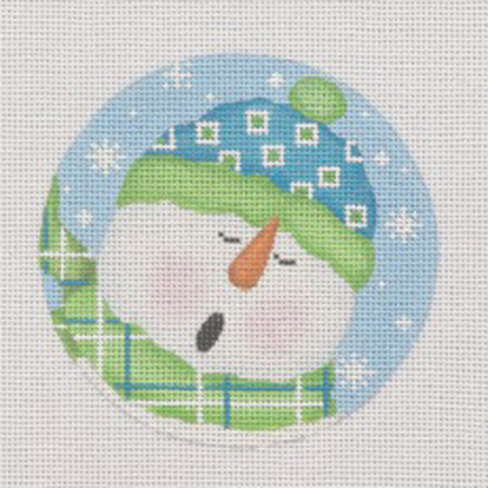 Caroling Ornament Canvas - KC Needlepoint