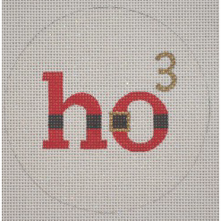 HO3 Ornament Canvas-Needlepoint Canvas-Pepperberry Designs-KC Needlepoint