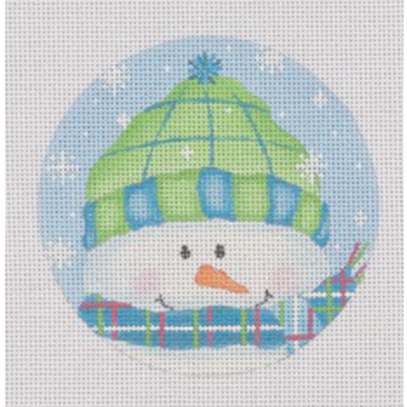 Brrr Ornament Canvas - needlepoint