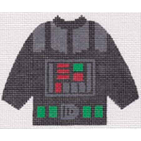 Darth Vader Pullover Sweater Needlepoint Canvas - needlepoint