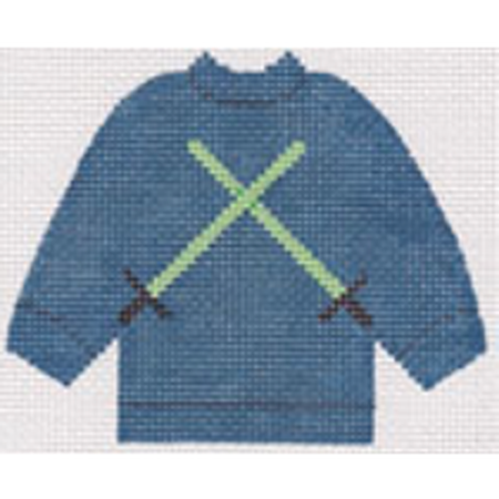 Light Saber Pullover Sweater Needlepoint Canvas - needlepoint
