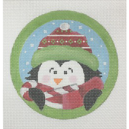Sweet Tooth Penguin Ornament Canvas - needlepoint