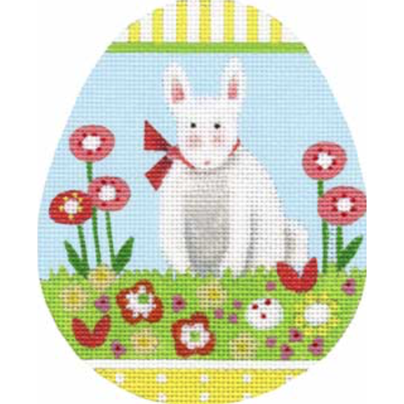 Bunny Egg Needlepoint Canvas - needlepoint
