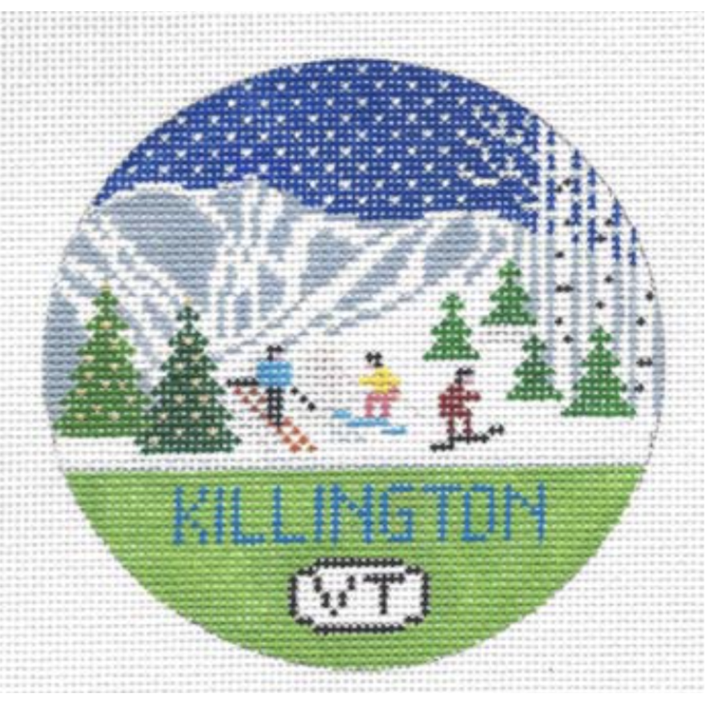 Killington Travel Round Needlepoint Canvas-Needlepoint Canvas-Doolittle Stitchery-KC Needlepoint