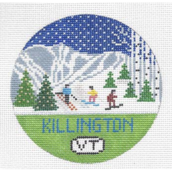 Killington Round Needlepoint Canvas - needlepoint