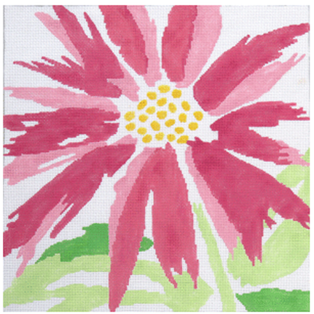 Pink Splash Flower Canvas - KC Needlepoint
