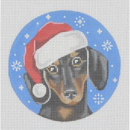 Dachshund Ornament Canvas-Needlepoint Canvas-Pepperberry Designs-KC Needlepoint