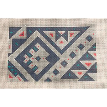 Nomadic Geometric Canvas-Needlepoint Canvas-Pewter & Pine-KC Needlepoint