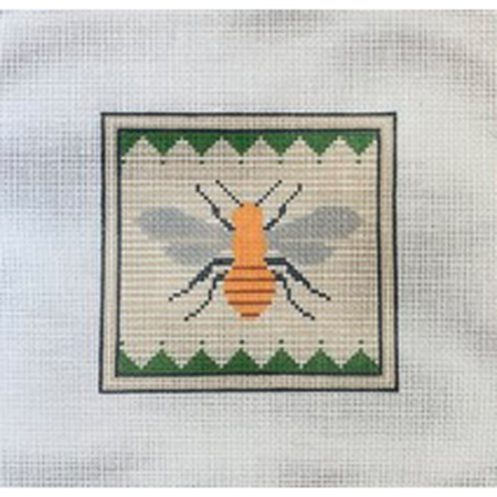 Bizzy Bee Canvas-Pewter & Pine-KC Needlepoint