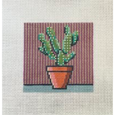 Cactus Square Canvas - KC Needlepoint