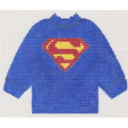 Superman Sweater Needlepoint Canvas-Needlepoint Canvas-Stitch-Its-KC Needlepoint