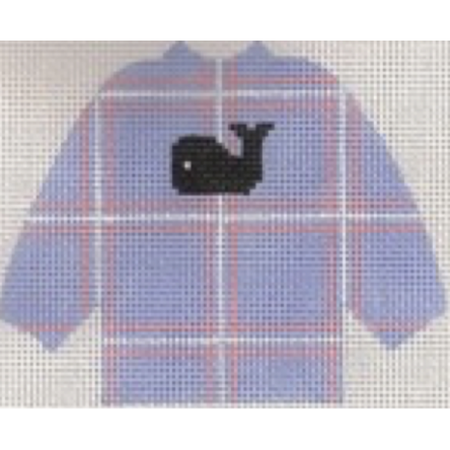 Whale Sweater Needlepoint Canvas-Needlepoint Canvas-Stitch-Its-KC Needlepoint