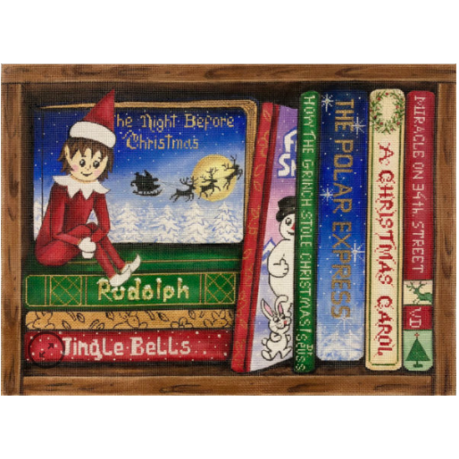 Christmas Books Canvas
