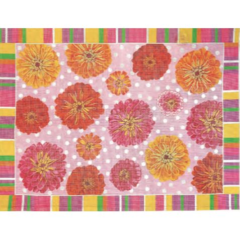 Zinnia Needlepoint Rug Canvas