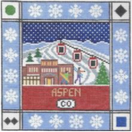 Aspen Square Canvas-Needlepoint Canvas-Doolittle Stitchery-KC Needlepoint