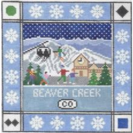 Beaver Creek Square Canvas - KC Needlepoint