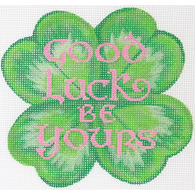 Good Luck Clover Canvas-Needlepoint Canvas-Kate Dickerson-KC Needlepoint