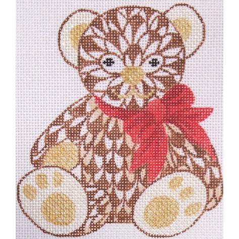 Herend Brown Bear Needlepoint Canvas