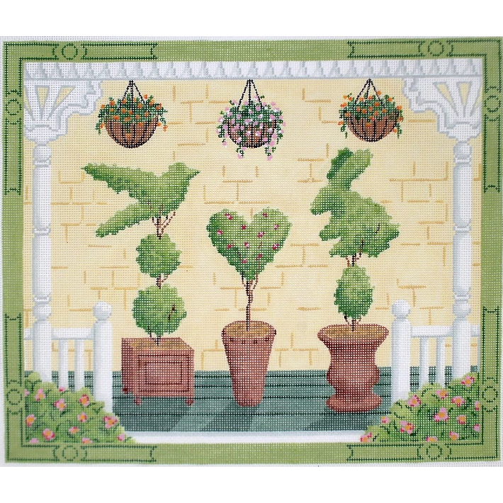 American Front Porch - Spring Canvas-Needlepoint Canvas-Kate Dickerson-KC Needlepoint